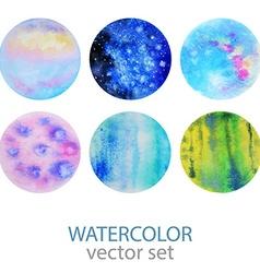 Watercolor design elements vector image