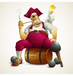 with the image of a pirate vector image