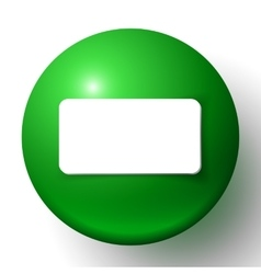 Abstract minimal frame with green ball vector image