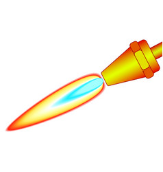 Blowpipe vector image vector image