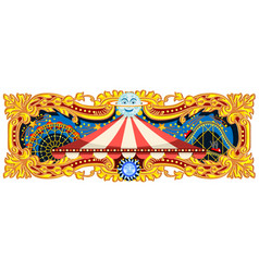 carnival banner circus theme vector image vector image