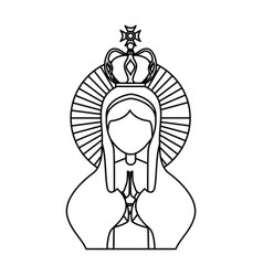 holy virgin mary icon vector image vector image