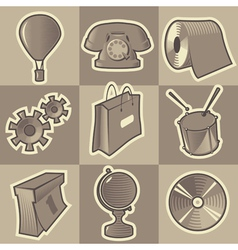 Monochrome miscellaneous icons vector