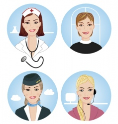 professions vector image vector image