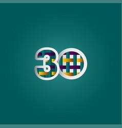 30 years anniversary celebration elegant color vector