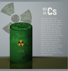 A barrel of toxic radioactive waste container vector