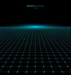 abstract technology futuristic concept blue grid vector image