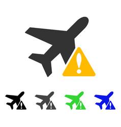 aircraft warning flat icon vector image