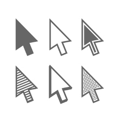 Arrow cursors vector image