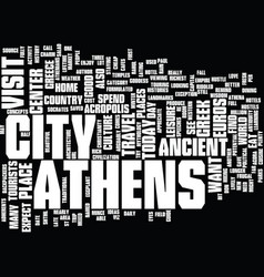 athens hotel guide text background word cloud vector image