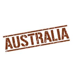 Australia brown square stamp vector