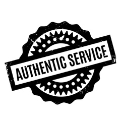 Authentic Service rubber stamp vector