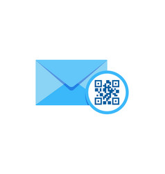 barcode mail logo icon design vector image