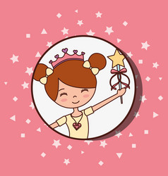 beautiful ballerinas ballet cartoon character vector image