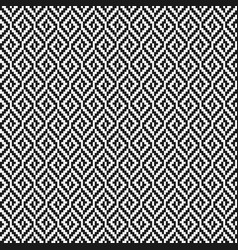 black and white rhombus tweed seamless pattern vector image
