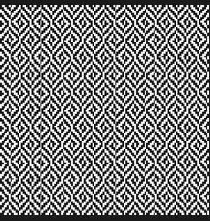 black and white rhombus tweed seamless pattern vector image