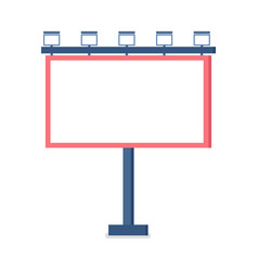 blank billboard with white sheet and metal frame vector image