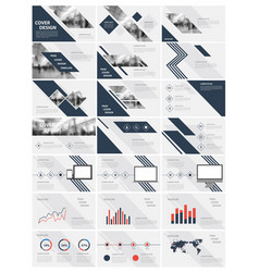 Blue elements for infographics vector