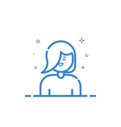 blue icon in flat line vector image