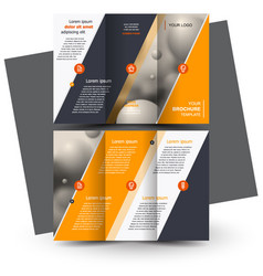 Brochure design brochure template creative vector
