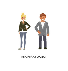 Business casual style vector