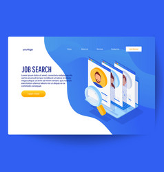 business hiring and recruiting concept vector image