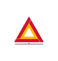 Car emergency sign icon folding safety vector image