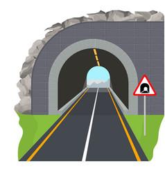 cartoon color tunnel highway scene concept vector image