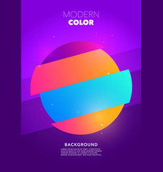colorful retro circle shape glitch poster design vector image