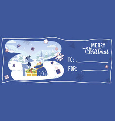 coupon or ticket for visiting christmas event vector image