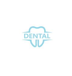 creative clean teeth dental text logo design vector image