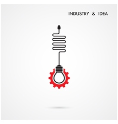 Creative light bulb and gear abstract desig vector image