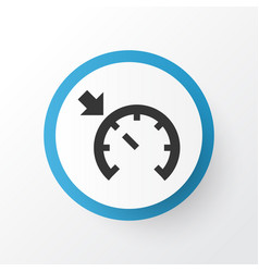 Cruise control on icon symbol premium quality vector