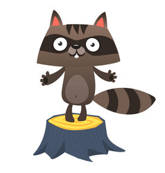 Cute cartoon badger vector