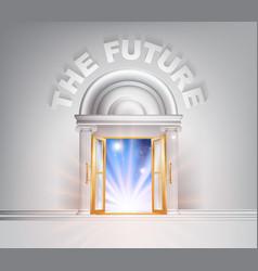 door to the future vector image