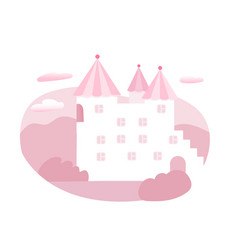 fairytale castle flat vector image