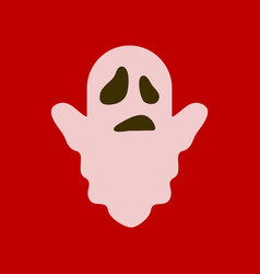 Flat icon stylish background halloween ghost vector
