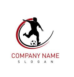 football player logo vector image