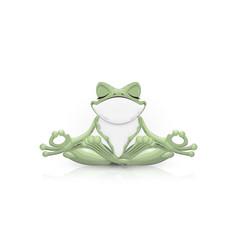 Funny frog doing yoga vector