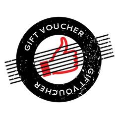 Gift voucher rubber stamp vector