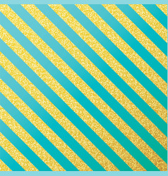 gold glittering lines pattern on mint vector image