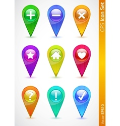 gps and navigation icons vector image vector image