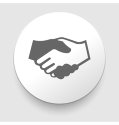 Handshake icon - business concept vector image