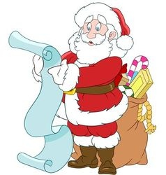 happy cartoon Santa Claus vector image