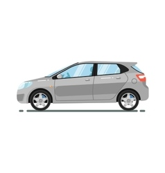 Hatchback citycar isolated on white background vector