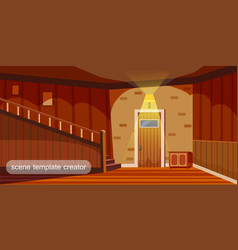 home interior template interior design for web vector image