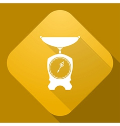 icon of Old Scales with a long shadow vector image