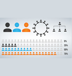 infographic user icon element statistic and vector image