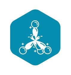 Ionic molecule icon simple style vector
