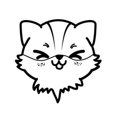 Isolated cute fox face vector